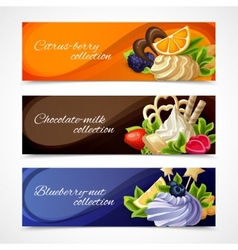 Sweets banners horizontal vector
