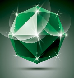 Stylish shiny emerald effect eps10 celebr vector