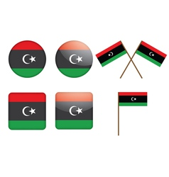 Badges with flag of libya vector