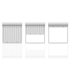 Metal perforated rolling shutters 04 vector
