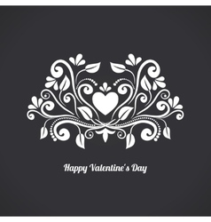 Valentine blackboard heart vector