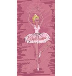 Painted ballerina vector