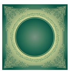 Vintage radial ornament with background vector