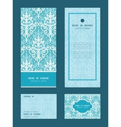 Light blue swirls damask vertical frame vector
