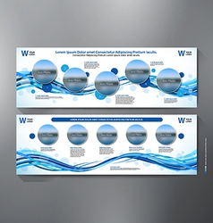 Exhibition stand displays template vector