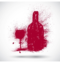 Wine drinking sign vector