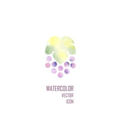 Silhouette of grapes vector