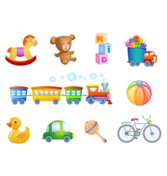 Set of 10 toys for kid vector