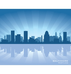 Baltimore maryland skyline vector