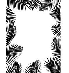 Palm leaf background vector