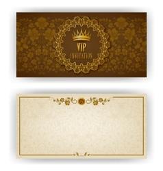 Elegant template for vip luxury invitation vector