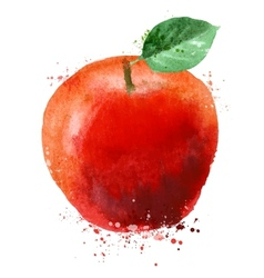 Apple logo design template fruit or food vector