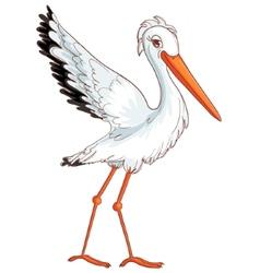 Stork vector