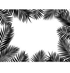 Palm leaf background vector