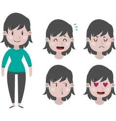 Girl and expressions vector