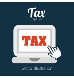 Tax icon vector
