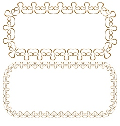 Set of rectangular beautiful frames vector