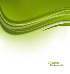 Green wavy background design template vector