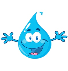 Water drop with welcoming open arms vector