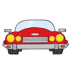 Red convertible car vector