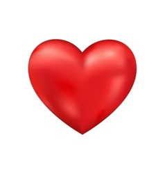 Shiny 3d heart vector