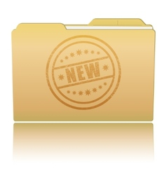Folder with new damaged stamp vector