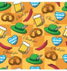 Seamless pattern on oktoberfest vector