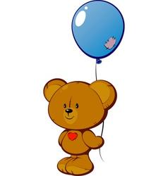 Teddy with balloon vector