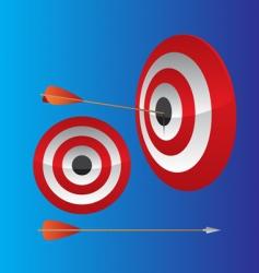 Dart hitting target vector
