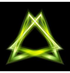 Green triangle shape vector