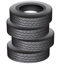 Pile of tires vector