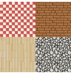 Wooden floor texture stone pattern and tiles vector