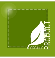 Icon for organic food vector