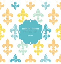 God and blue lily frame seamless pattern vector