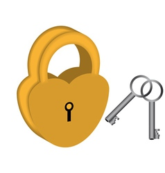 Yellow padlock vector