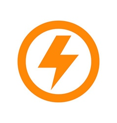 Lightning bolt sign vector