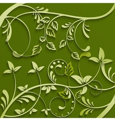 Abstract leaves green background vector