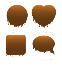 Dripping chocolate shapes vector