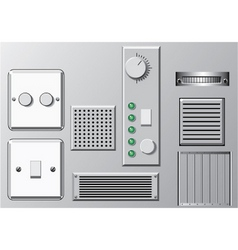 Panels and switches vector