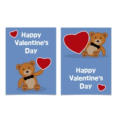 Happy valentines day bear vector