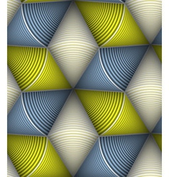 Striped circle cone 3d seamless seamless pattern vector