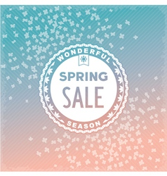 Spring sale label design vector