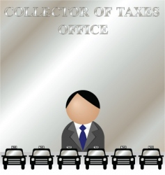 Tax man vector
