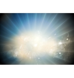 Glowing sunlight background vector