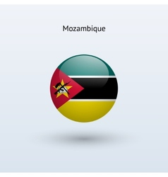Mozambique round flag vector