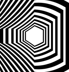 Abstract striped warped optical vector