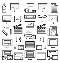 Designer website icons vector