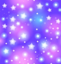 Abstract seamless pattern with star on blue vector