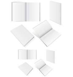 Set of books with softcover vector