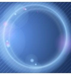 Abstract neon circles vector
